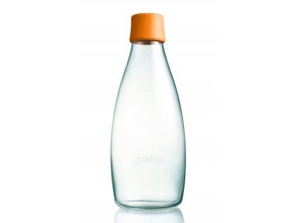 Retap skleněná láhev 0,8l oranžová