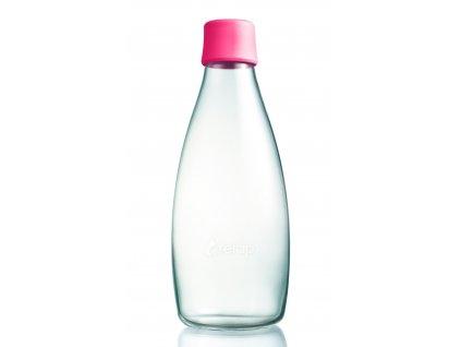 Retap skleněná láhev 0,8l růžová