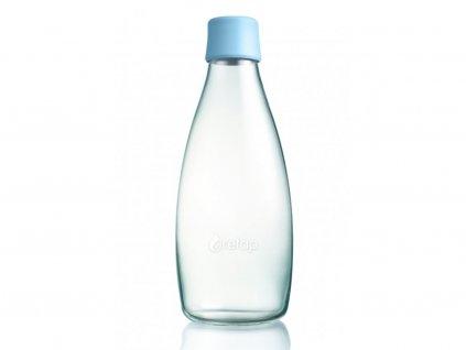 Retap skleněná láhev 0,8l světle modrá