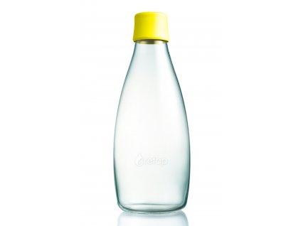 Retap skleněná láhev 0,8l žlutá