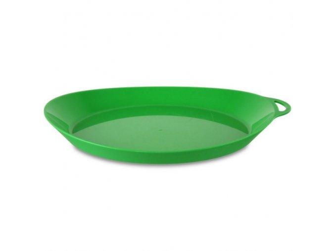 Lifeventure plastový talíř Ellipse zelený