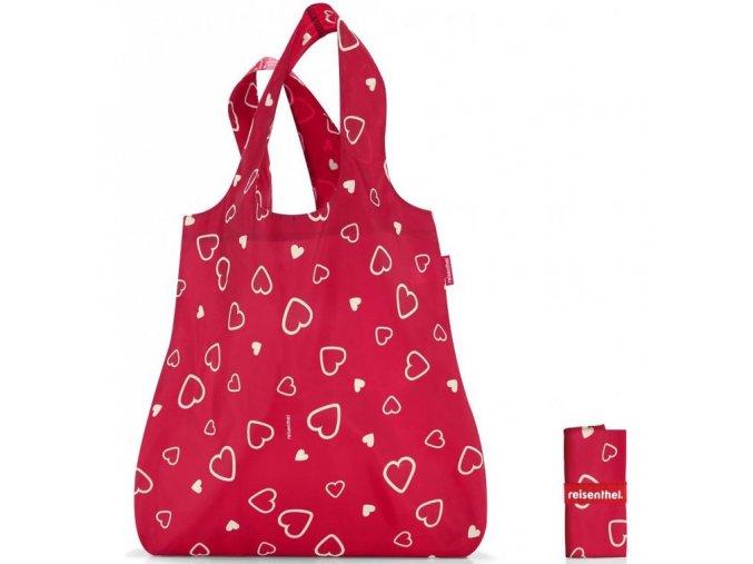 Reisenthel - skládací taška MINI MAXI SHOPPER HEARTS
