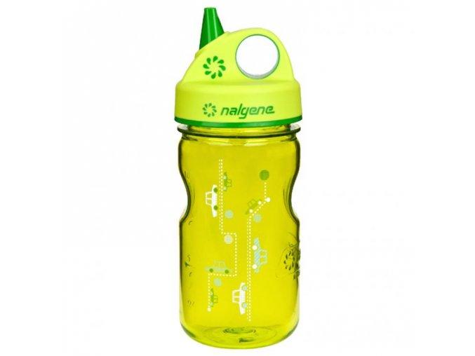 NALGENE - dětská láhev Grip'n Gulp 375 ml Green Cars