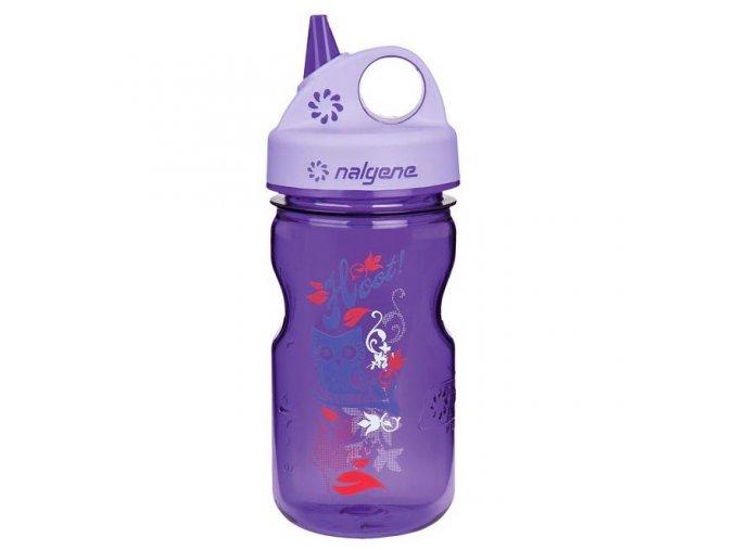 NALGENE - dětská láhev Grip'n Gulp 375 ml Purple Hoot