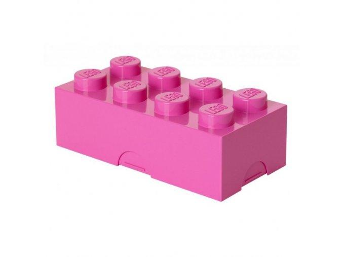 LEGO box na svačinu růžový