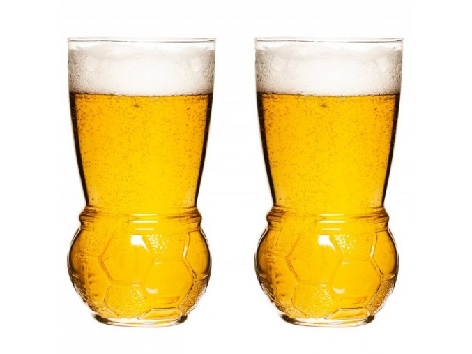 Sagaform - Sklenice na pivo Football Glasses 45cl - set 2ks