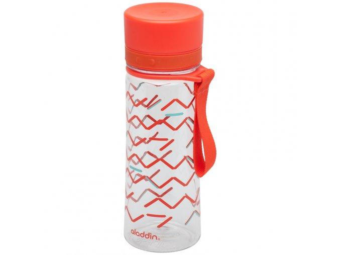 Aladdin - láhev na vodu pro děti do školy Aveo 350 ml červená s potiskem