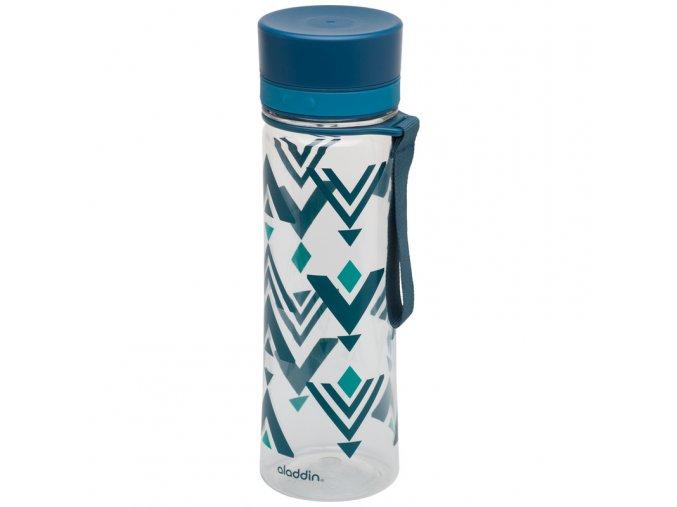 Aladdin - láhev na vodu Aveo 600 ml modrá s potiskem