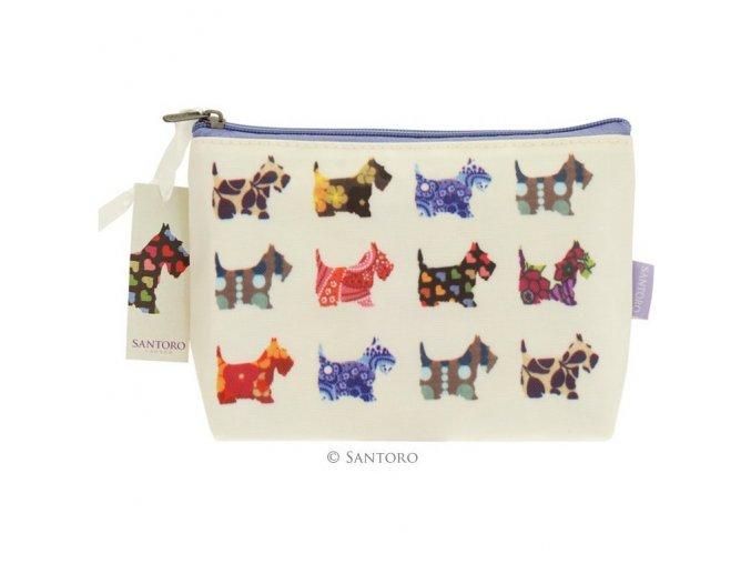 SANTORO - kosmetická taštička SCOTTIE DOGS