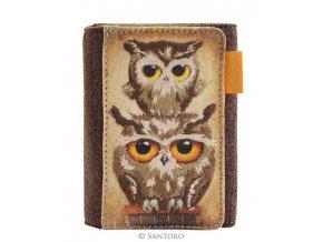 SANTORO - menší peněženka Book Owls