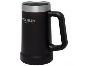 Vakuově izolovaný korbel na pivov černé barvě od značky STANLEY