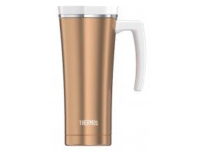 Thermos - nerezový termohrnek Style 470 ml s madlem růžovozlatá