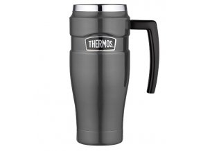 Thermos - nerezový termohrnek s madlem 470 ml metalicky šedá