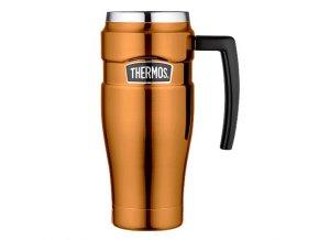 Thermos - nerezový termohrnek s madlem 470 ml měděná