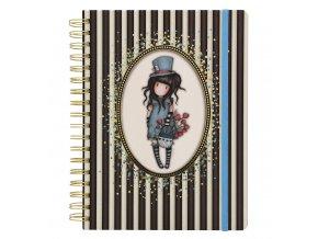 SANTORO zápisník Classic Stripe The Hatter