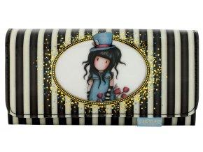 SANTORO - peněženka dlouhá Gorjuss Classic Stripe The Hatter