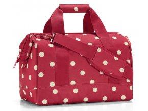 Praktická cestovní taška ReisenthelAllrounder M červená s bílými puntíky 1