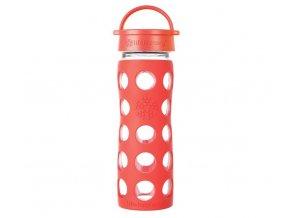 Lifefactory skleněná láhev s klasickým uzávěrem 475 ml Poppy