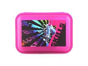 7Skills svačinový box růžový