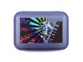 7Skills svačinový box šedo-modrý