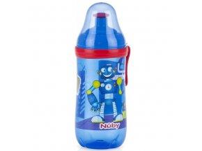 NUBY sportovní lahev Pop-Up 360 ml, 18m+ modrá