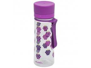 Aladdin - dětská láhev Aveo 350 ml fialová s potiskem
