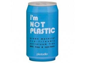 I'M NOT PLASTIC - ekologický termohrnek 280 ml modrý