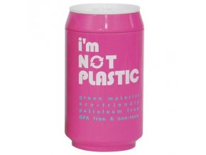 I'M NOT PLASTIC - ekologický termohrnek 280 ml růžový
