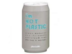 I'M NOT PLASTIC - ekologický termohrnek 280 ml šedý