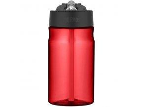Thermos - dětská láhev s brčkem 350 ml červená