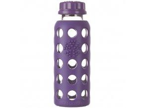 Lifefactory skleněná láhev 250ml purple