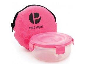 Pret a Paquet krabička na svačinu Snack To-Go kit růžová