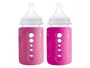 Cherub Baby - skleněná lahev duopack 2x 240ml růžová