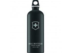Lahev SIGG Swiss Emblem Black Touch 1000 ml černá