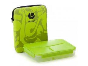 Pret a Paquet obědový box s termoobalem zelený
