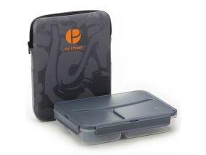 Pret a Paquet obědový box s termoobalem šedý