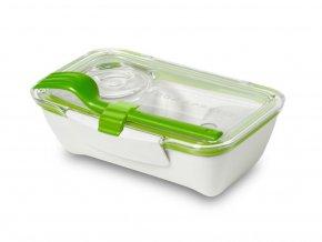 BLACK-BLUM - svačinový Bento Box bílo zelený