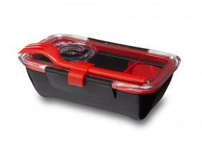BLACK-BLUM - svačinový Bento Box černo červený