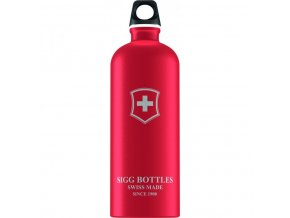 Lahev SIGG Swiss Emblem Red Touch 1000 ml červená