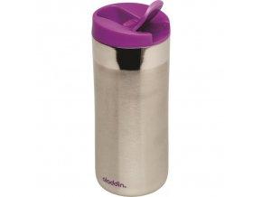 Aladdin - nerezový termohrnek Flip-Seal 350 ml fialové víčko