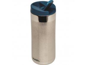 Aladdin - nerezový termohrnek Flip-Seal 350 ml petrolejové víčko