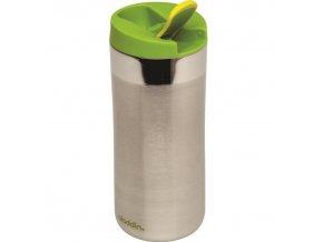 Aladdin - nerezový termohrnek Flip-Seal 350 ml zelené víčko