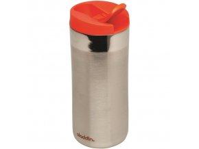 Aladdin - nerezový termohrnek Flip-Seal 350 ml červené víčko