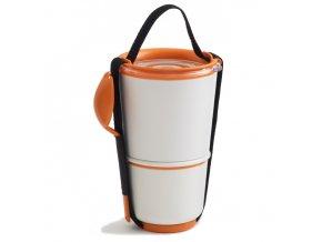 BLACK-BLUM Lunch Pot, bílo oranžový
