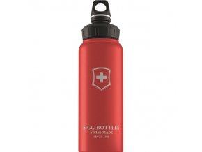 Lahev SIGG WMB Swiss Emblem Red Touch 1,0l