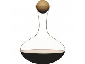 Sagaform - karafa na červené víno Oval Oak 2 l