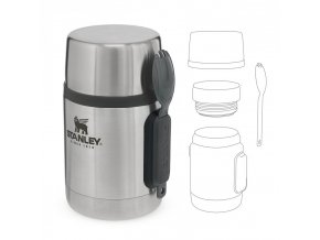 Stanley - jídelní termoska se lžící 500 ml nerez