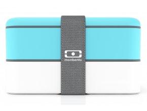 Monbento Bento box na jídlo MB Original light blue/white
