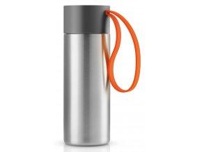 Eva Solo - termohrnek s oranžovým poutkem