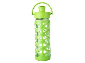 Lifefactory skleněná lahev ACTIV uzávěr 475 ml Lime